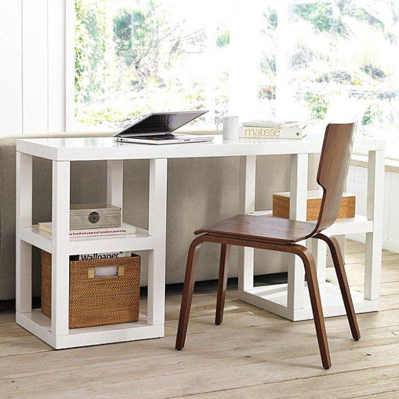white-console-desk