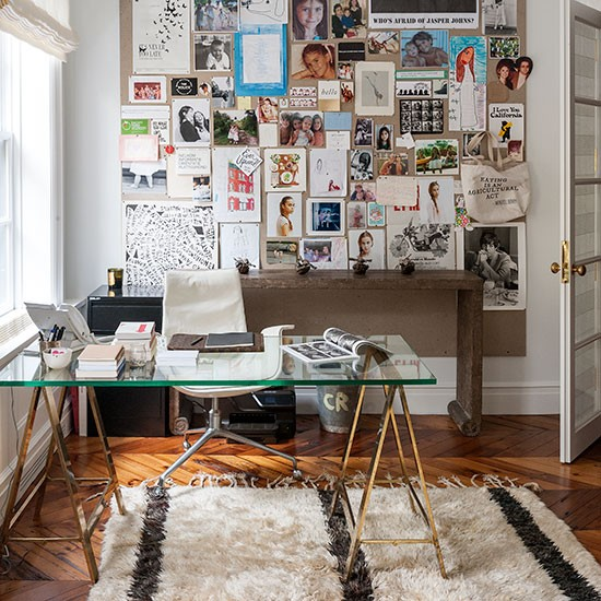 White-eclectic-home-office
