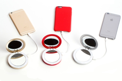 Pearl's Compact Mirror and USB Battery Pack